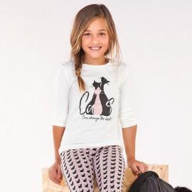 Mayoral 7076-58 Koszulka dziewczęca kolor krem