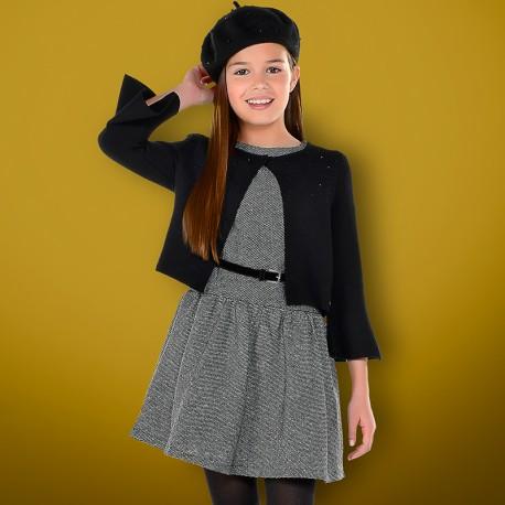 Mayoral 7938-78 Sukienka dziewczęca kolor czarny