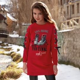 Mayoral 7958-93 Sukienka dziewczęca kolor czerwony