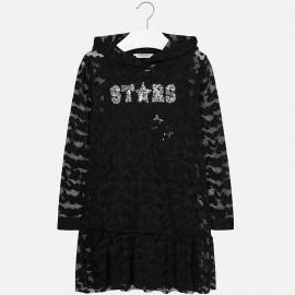 Mayoral 7959-31 Sukienka dziewczęca kolor czarny