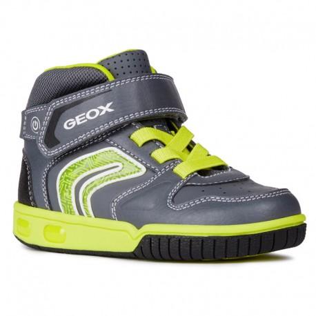 Geox Trzewik chłopięcy kolor seledyn/szary J8447B-05414