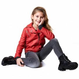 Losan spodnie dziewczęce kolor czarny 824-6025AB