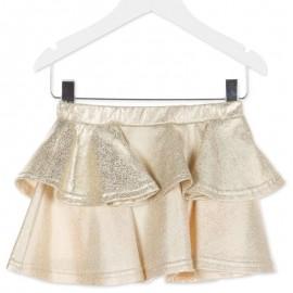 Losan spódnica dla dziewczyny kolor złoty 826-7026AD