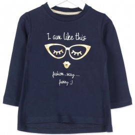 Losan bluzka dla dziewczyny kolor granat 826-1002AD