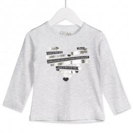 Losan bluzka dla dziewczyny kolor szary 826-1001AD
