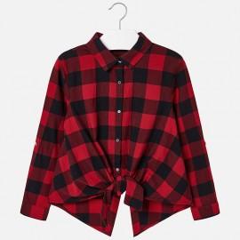Mayoral 7130-32 koszula dziewczęca kolor czerwony
