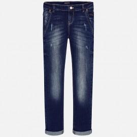 Mayoral 50-66 Spodnie jeans chłopięce kolor granat