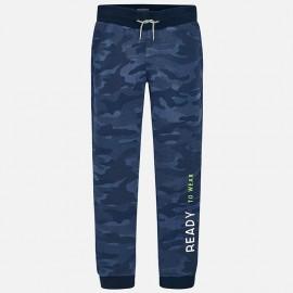 Mayoral 7526-87 Spodnie dresowe chłopięce moro kolor granat