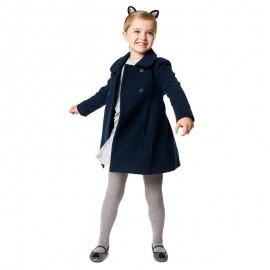 Losan płaszcz dla dziewczyny kolor granat 826-2793AD