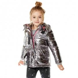Losan kurtka parka dziewczęca kolor srebrny 826-2005AD