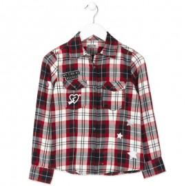 Losan koszula dla dziewczyny kolor czerwony 824-3000AB