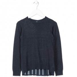 Losan sweter dziewczęcy kolor granat 824-5790AB