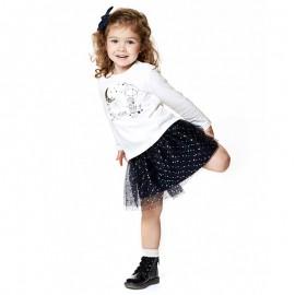 Losan spódnica dla dziewczynki kolor granat 828-7002AD