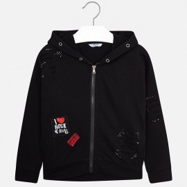 Mayoral 7494-82 Bluza dziewczęca kolor czarny