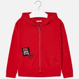 Mayoral 7494-83 Bluza dziewczęca kolor czerwony