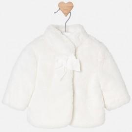 Mayoral 2438-61 płaszcz futerko dziewczęce kolor krem