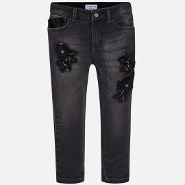 Mayoral 4546-27 Spodnie dziewczęce kolor Czarny