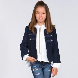 Mayoral 7124-53 Bluzka dziewczęca kolor kremowy