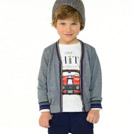 Mayoral 4334-68 Sweter chłopięcy rozpinany kolor szary