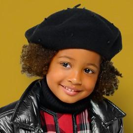 Mayoral 10510-64 Czapka beret dziewczęcy kolor czarny