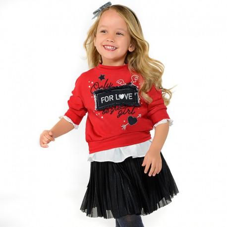 Mayoral 4454-86 Bluza dziewczęca kolor Czerwony