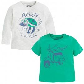 Mayoral 1061-11 Komplet 2 koszulki d/r i k/rę Zieleń