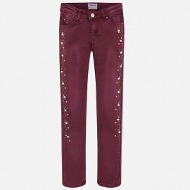 Mayoral 7534-21 Spodnie dziewczęce kolor bordo
