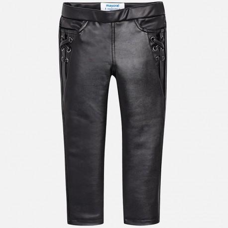Mayoral 4544-21 Spodnie dziewczęce kolor czarny