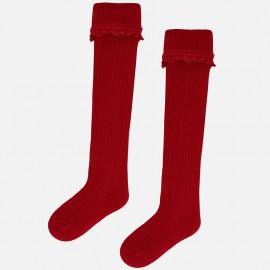 Mayoral 10499-57 skarpetki dla dziewczynki kolor czerwony