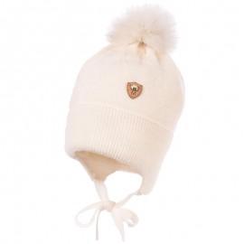 Jamiks MARS II czapka chłopięca kolor ekri JZB164-3