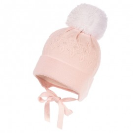 Jamiks JARINA IV czapka dziewczęca kolor róż JZB116-1