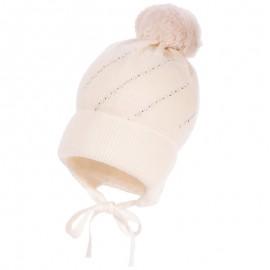 Jamiks HELMI II czapka dziewczęca kolor ekri JZB100-2