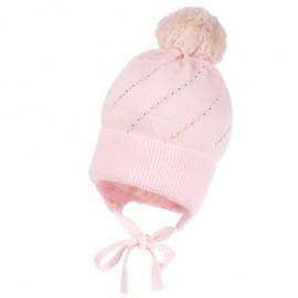 Jamiks HELMI II czapka dziewczęca kolor róż JZB100-3