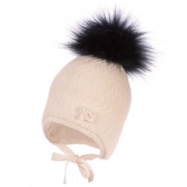 Jamiks ASHA II czapka dziewczęca kolor ekri JZB026-3
