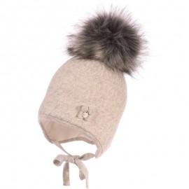 Jamiks ASHA II czapka dziewczęca kolor popiel JZB026-1