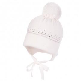 Jamiks LEVKONIA czapka dziewczęca kolor biały JZB145-1