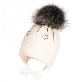 Jamiks PETRA czapka dziewczęca kolor ekri JZB210-1