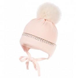 Jamiks SHEA czapka dziewczęca kolor róż JZB271-1