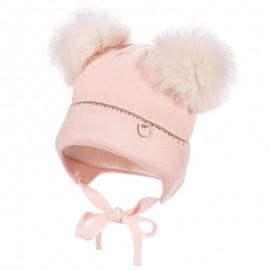Jamiks MALI czapka dziewczęca kolor róż JZB159-2