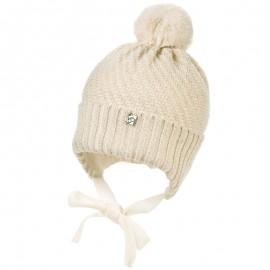 Jamiks AYA czapka dziewczęca kolor ekri JZB033-3