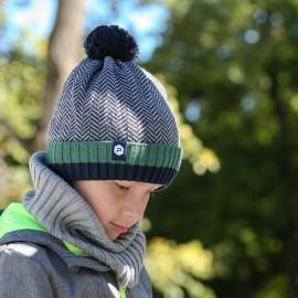 Pupill czapka chłopięca ERIC kolor zielony
