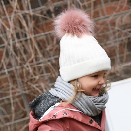 Pupill czapka dziewczęca JASSICA kolor krem