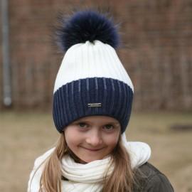Pupill czapka dziewczęca GRETA JENOT kolor granat