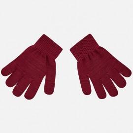 Mayoral 10476-52 rękawiczki dziecięce kolor bordo