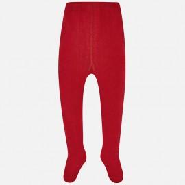 Mayoral 10493-33 Rajstopy dziewczęce gładkie kolor czerwony