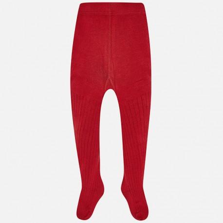 Mayoral 10497-69 Rajstopy dziewczęce ze ściągaczem kolor czerwony