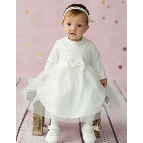 468f7f12c6 Sukienka do chrztu dla dziewczynki Klara kolor krem