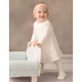 Sukienka na chrzest dla dziewczynki Ellie kolor krem