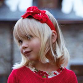 Mayoral 10514-23 Opaska dziewczęca do włosów kolor czerwony