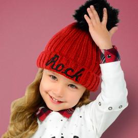 Mayoral 10511-35 Czapka dziewczęca kolor czerwony